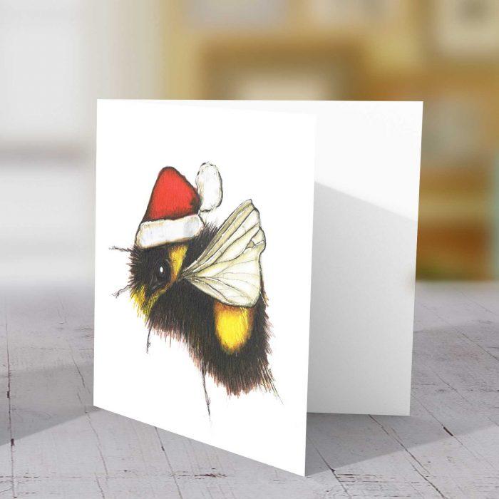 Christmas Bee Greeting Card