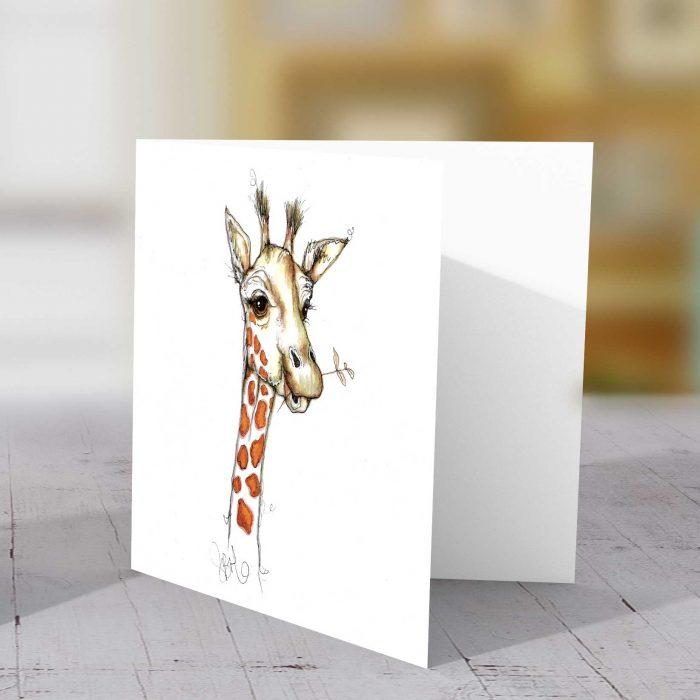 Giraffe (Right) Greeting Card