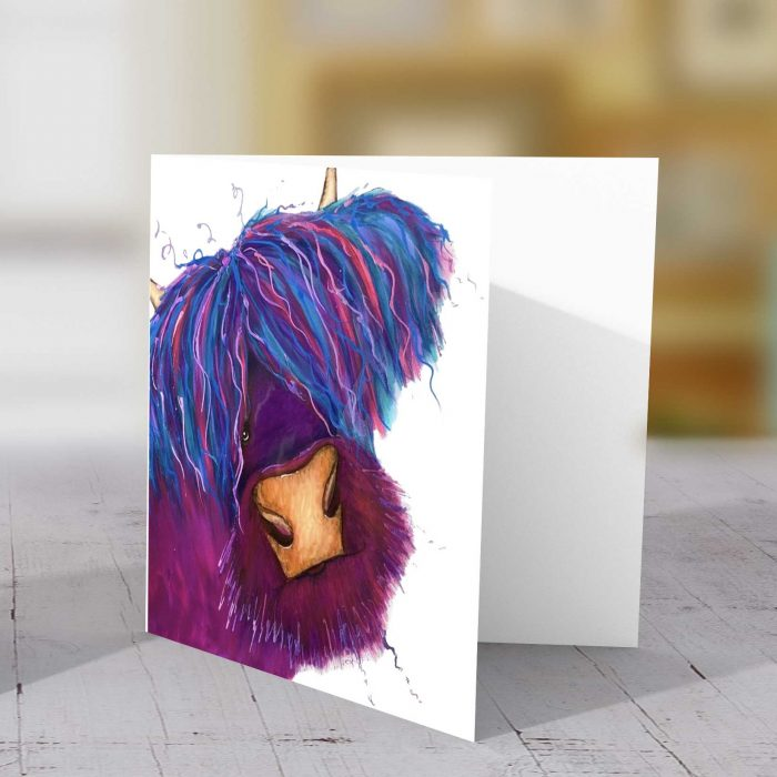 Highland Purple v1 Greeting Card