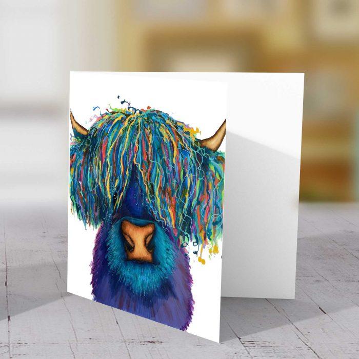 Highland Purple Greeting Card