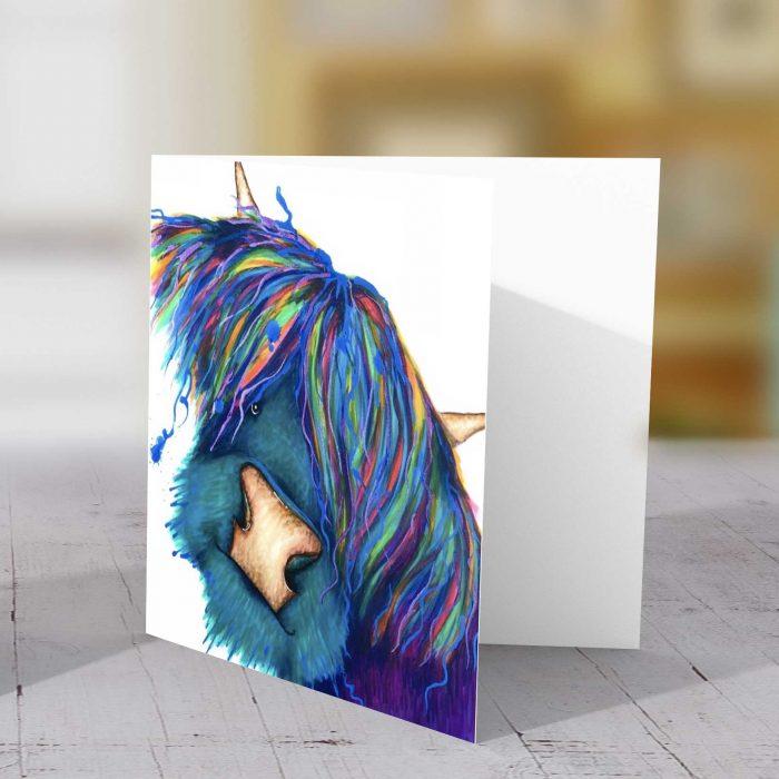 Highland Rasta Blue Greeting Card