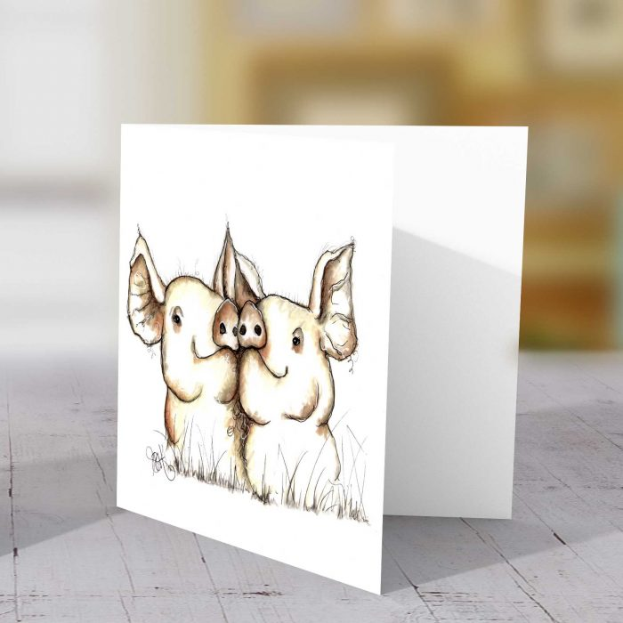 Pigs (Two) Greeting Card