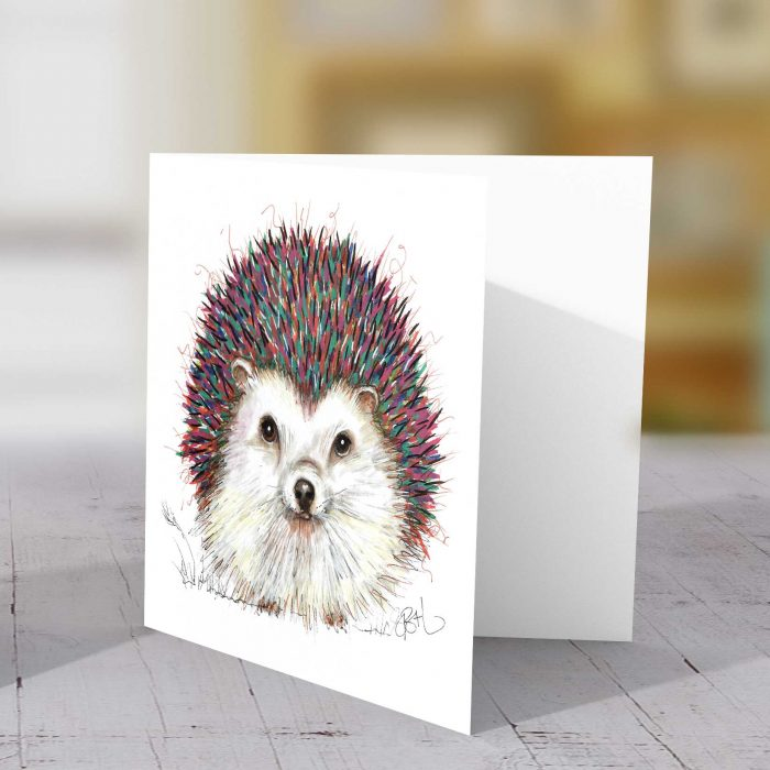 Punky Hedgehog Greeting Card