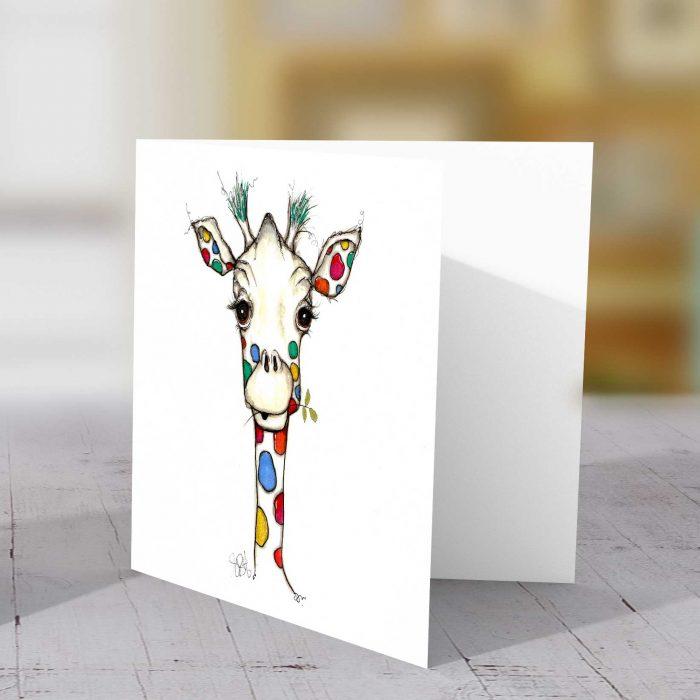 Spotty Giraffe Greeting Card
