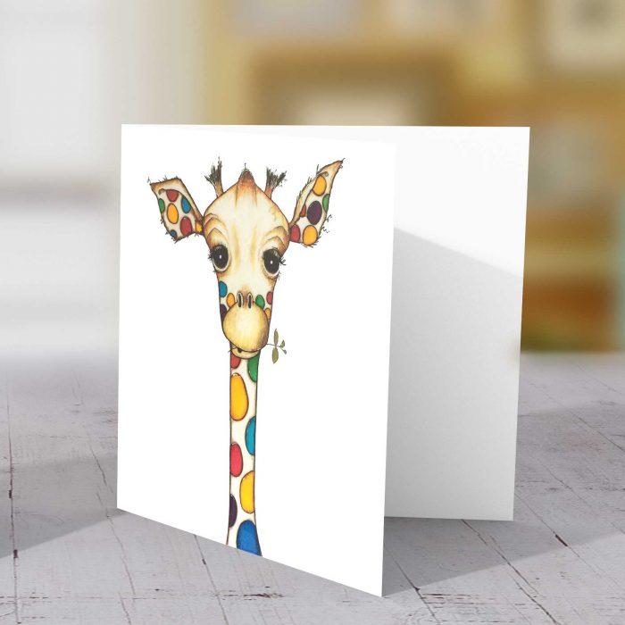Spotty Logo Giraffe Greeting Card