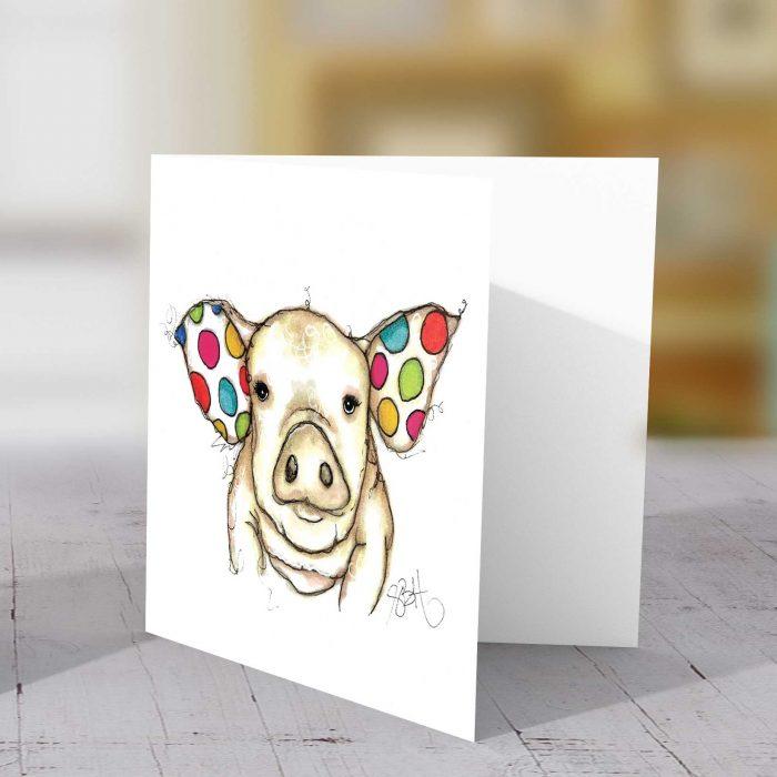 Spotty Pig Greeting Card