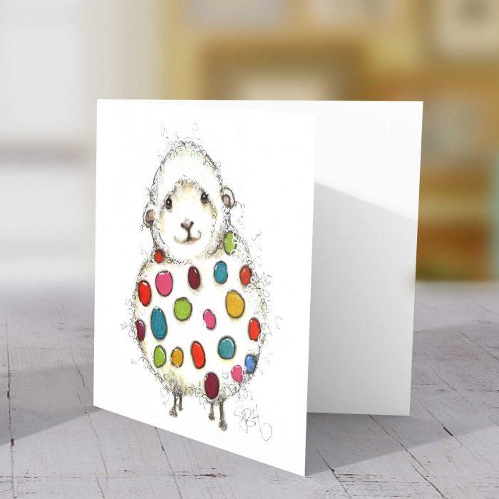 Spotty Sheep Greeting Card