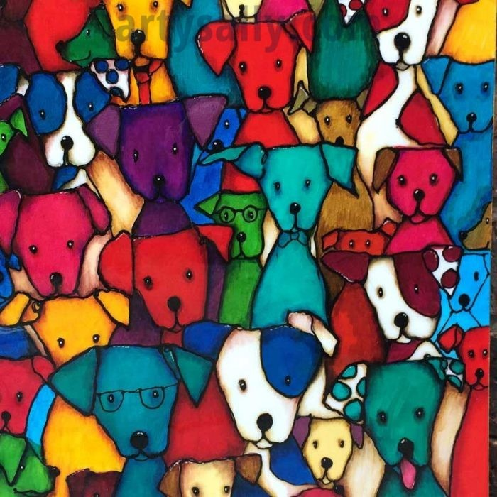 Spot the dog print on canvas