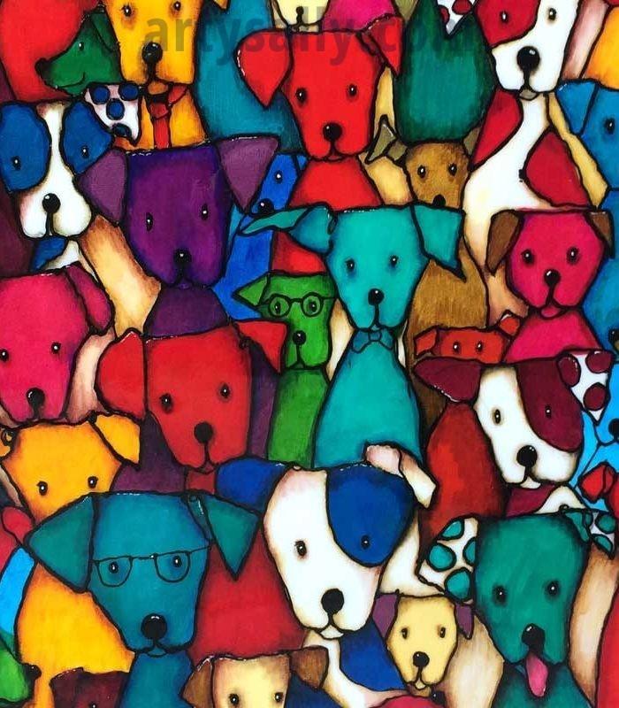 Spot the dog print on canvas