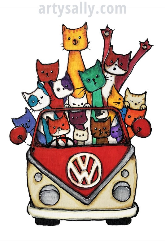 Cats in Camper
