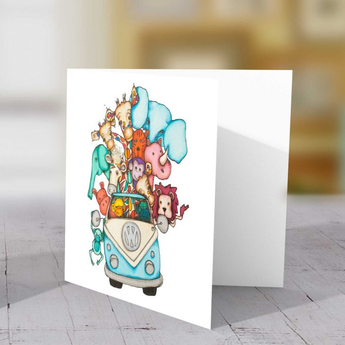 Designated Driver Blue Greeting Card
