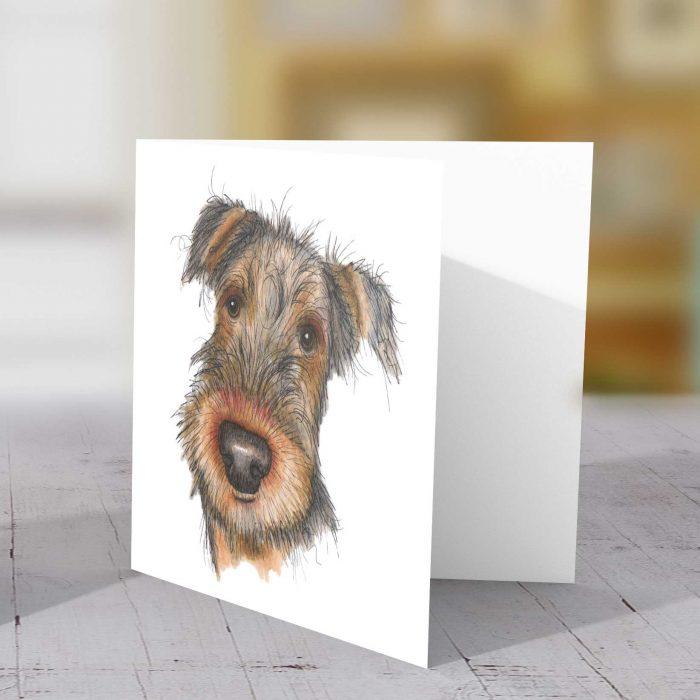 Dog Aerdale Terrier card