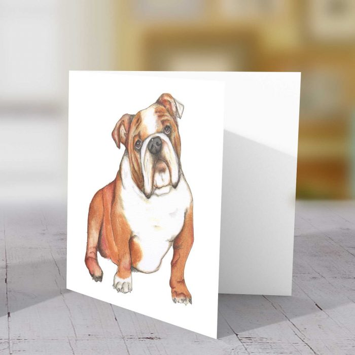 Dog Bulldog card
