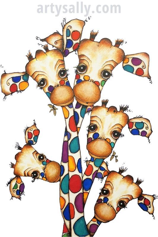 Family Giraffes 5