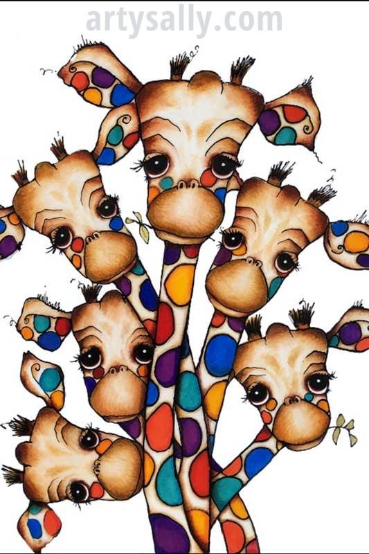 Giraffe Family 6