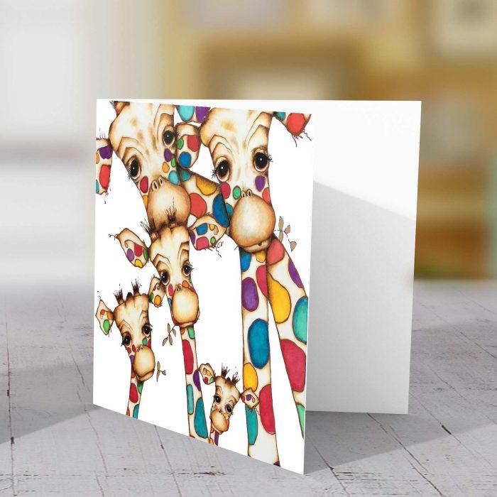 Giraffe Family (Close up) Greeting Card