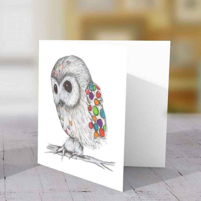 Owl Spotty Greeting Card