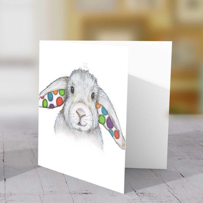 Rabbit Spotty Greeting Card
