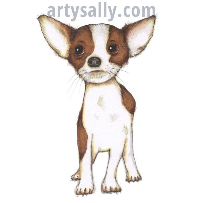 Chihuahua print on canvas