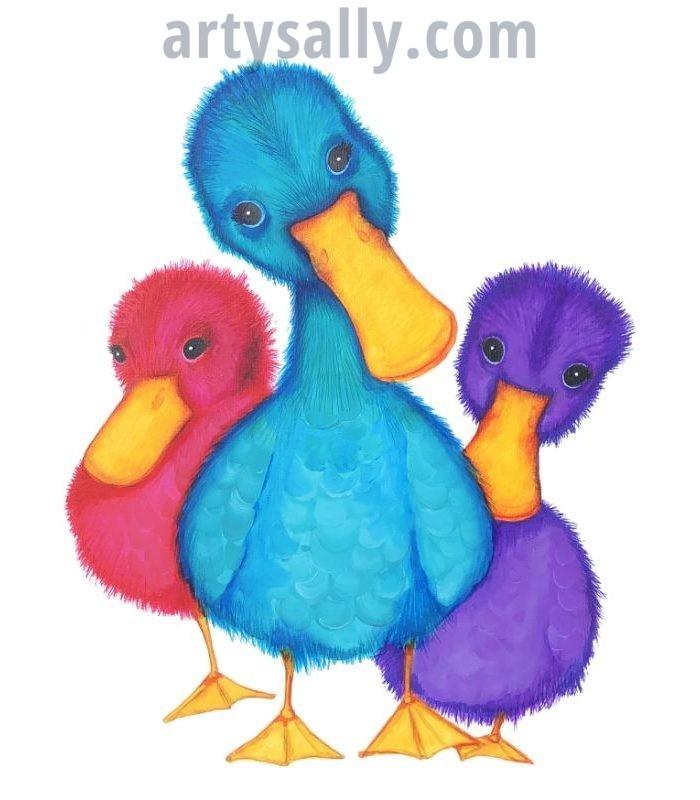Duck Family Canvas Print