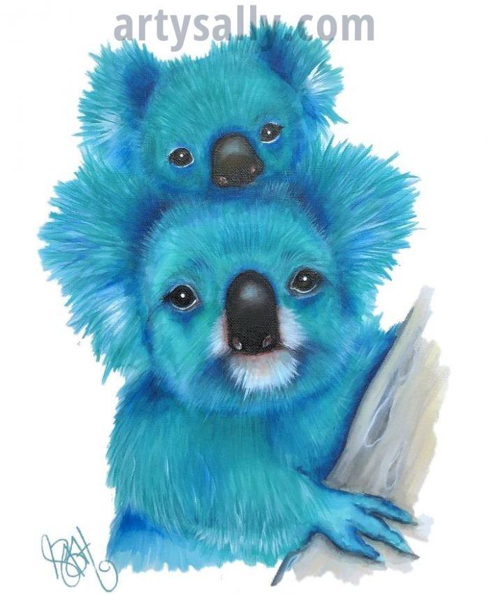 Koala Family (Turq)