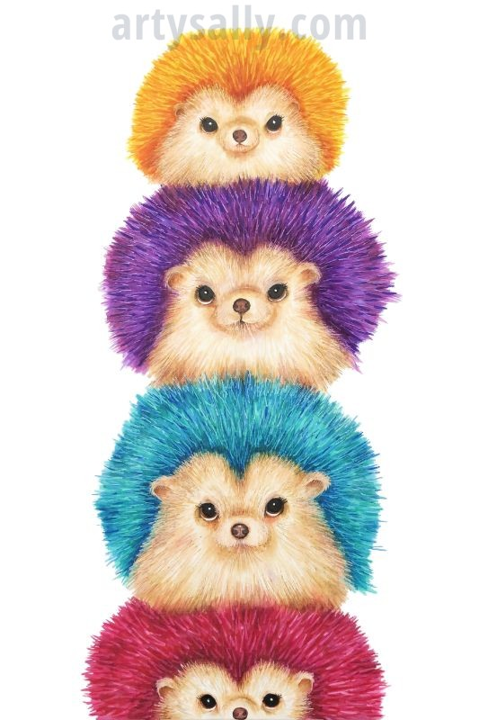 Hedgehog Stacker of 4