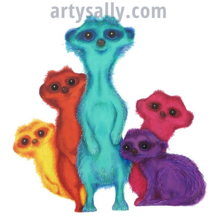 Meerkats print on canvas